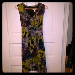 Ann Taylor Multi- Colored Midi Dress